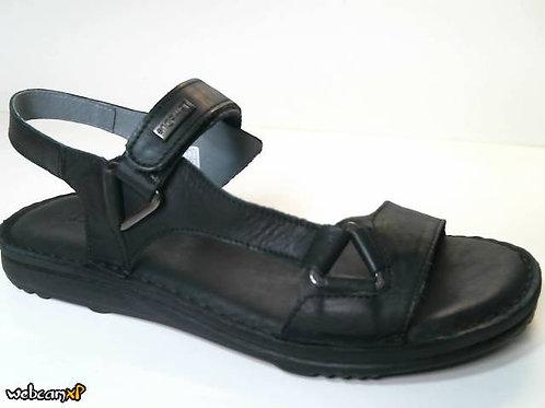 Sandalia de piel color negro (31376)