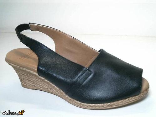 Sandalia de piel icaro color negro (31876)