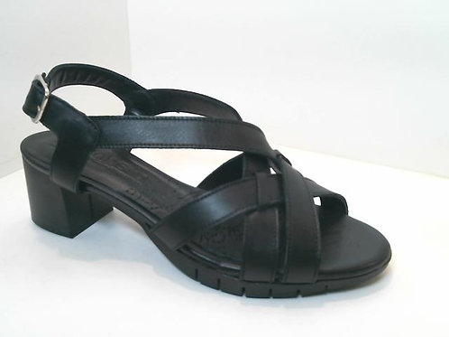 Sandalia de piel color negro (32553)