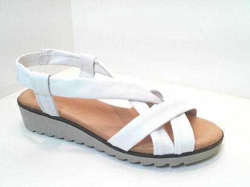 Sandalia de tubular color blanco (32587)