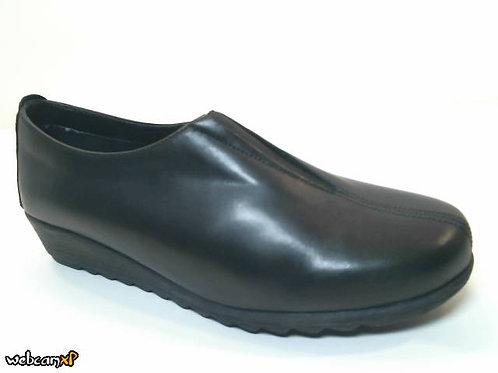 Zapato tipo casual de napa color negro (32077)