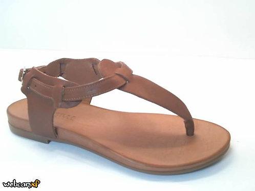 Sandalia de piel color cuero (32456)