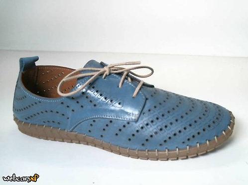 Deportivo de piel suave color azul (31836)