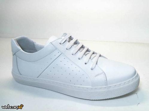 Deportivo de piel suave color blanco (31760)