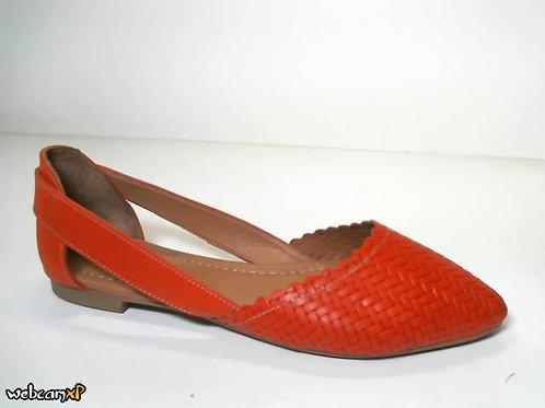 Zapato de entretiempo de piel suave color rojo (31748)