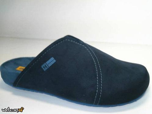 Zapatilla de casa de microsuede color azul (31540)