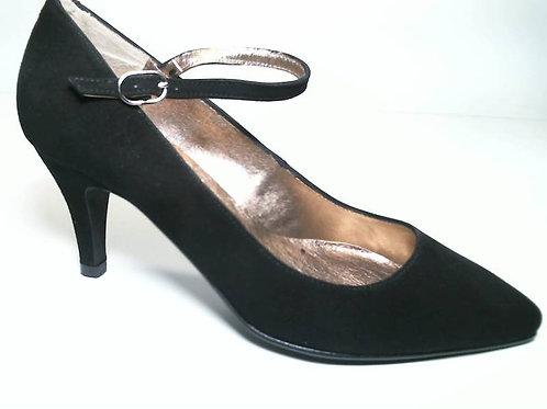Zapato de vestir de ante color negro (29656)