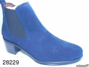 Botín de serraje color azul (28229)