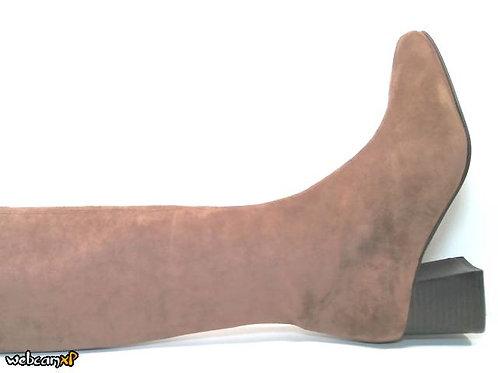 Bota de microfibra elastica color cuero (32146)