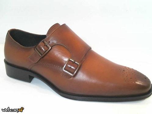 Zapato de vestir de piel color cuero (32028)