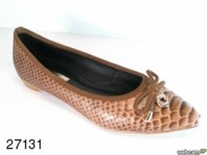Zapato de vestir de snake color cuero (27131)