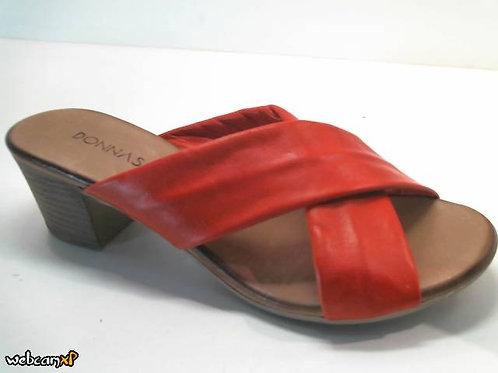 Sandalia de piel color rojo (32427)