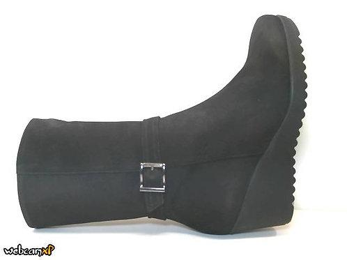 Bota de nobuck color negro (32126)