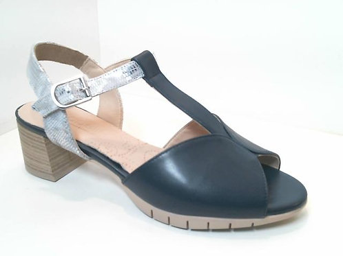 Sandalia de piel color azul (32552)