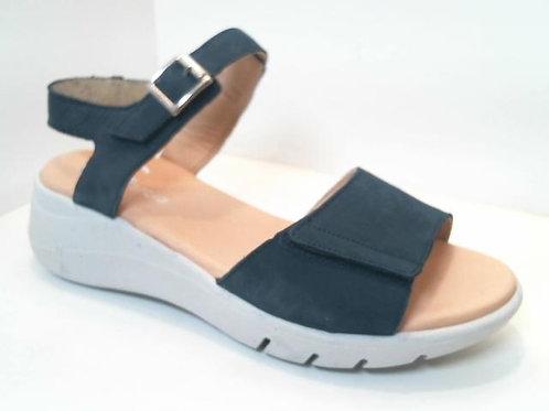 Sandalia de piel color azul (32573)