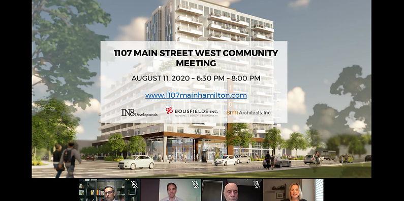 1107 Main Street West Virtual Community Meeting Recording