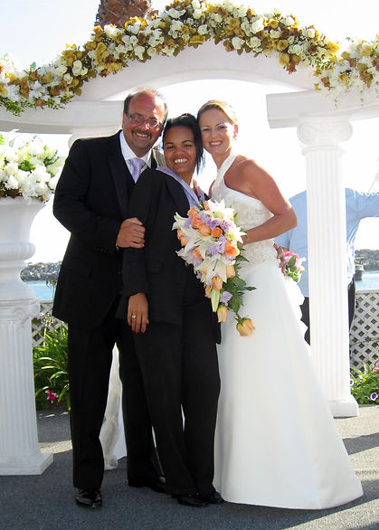 Newlyweds Frank & Marcia Carus with Josy Johnson of Josy's Events wedding planner.