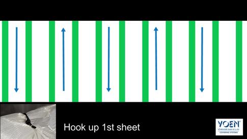Hook up first sheet