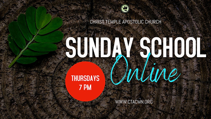 Online Sunday School And New Members Class