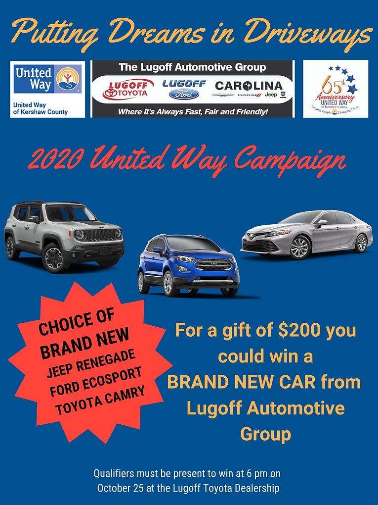 final 2020 United Way Campaign NEW CAR G