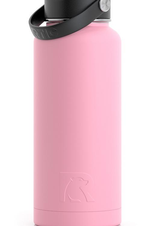 32 oz Botella de Agua Tapa Ancha Flamingo Matte