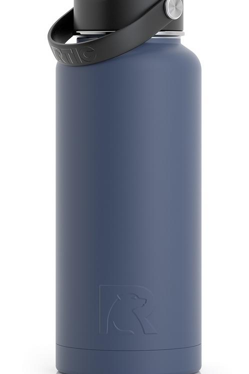 32 oz Botella de Agua Tapa Ancha Azul Libre Matte