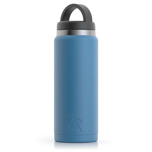 26 oz Botella de Agua Tapa Ancha Azul Slate Matte- Cod:1543