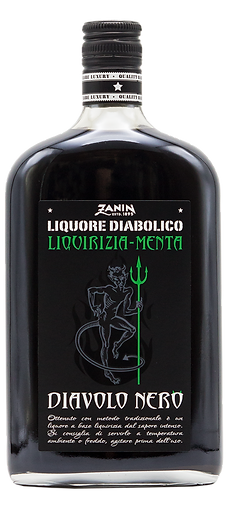 0142E Liquore Diavolo Nero menta e liqui