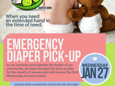 New date for January diaper pick-up!