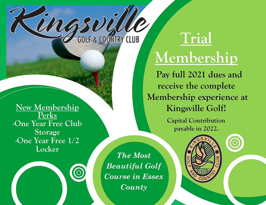 Trial Membership at Kingsville Golf