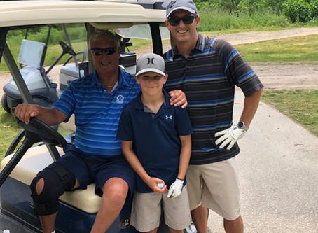 Three generations of Pollard's, LARRY, KEVIN &GAVIN enjoying Father's Day Golf !!