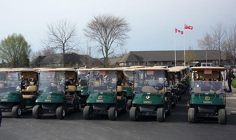 Golf Carts with GPS at Kingsville Golf