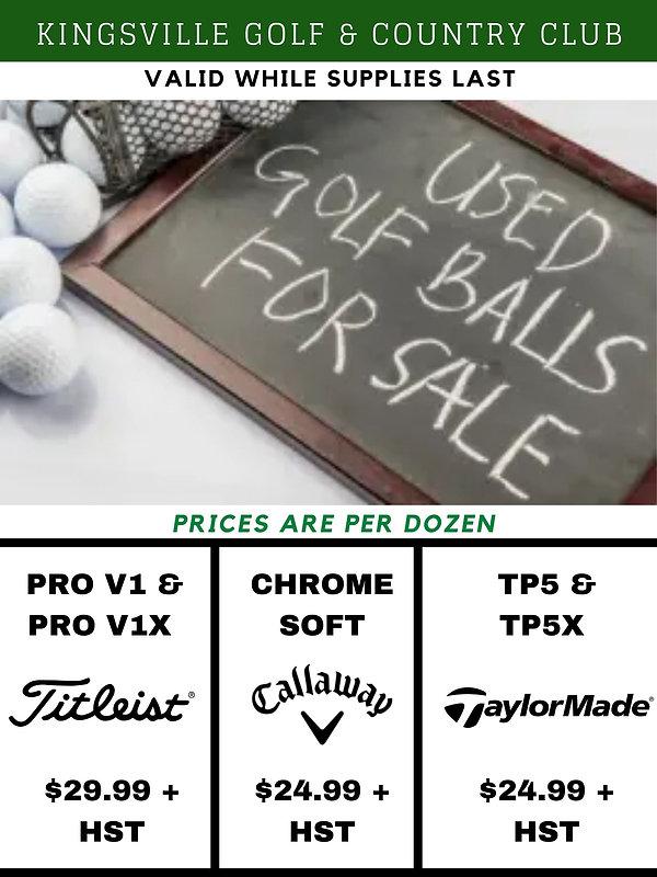 Used Golf Balls at Kingsville Golf