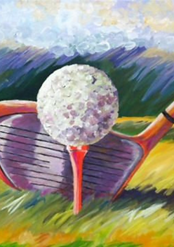 Golf ball and driver - Click for information on lessons