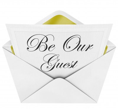 Be Our Guest invitation image
