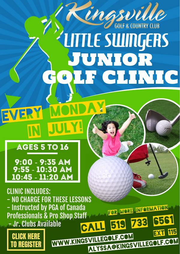 2021 Little Swingers Clinic at Kinsville Golf - Register Open!