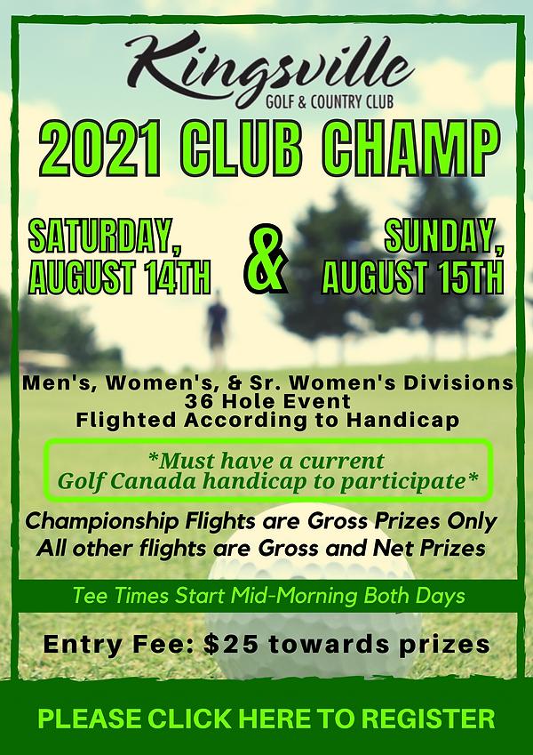 2021 Club Championship Registration
