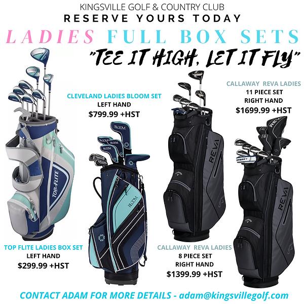 Ladies Box Sale at Kingsville Golf