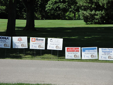Tournament sponsorship signs at Kingsville Golf
