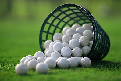 Bucket of practice balls