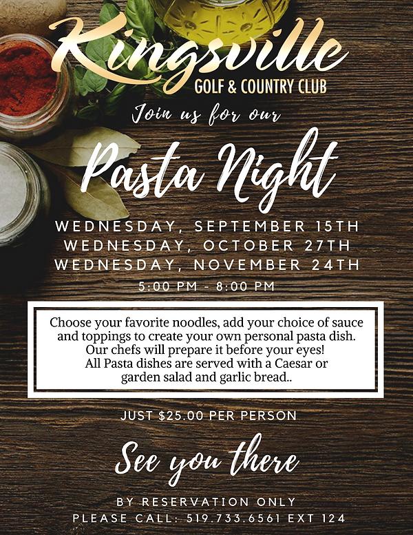 Pasta Night - Fall 2021