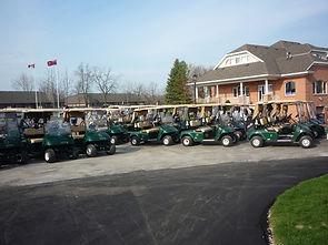 GPS Golf Carts at Kingsville Golf