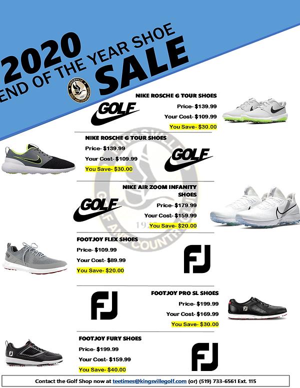Shoe Sale at Kingsville Golf
