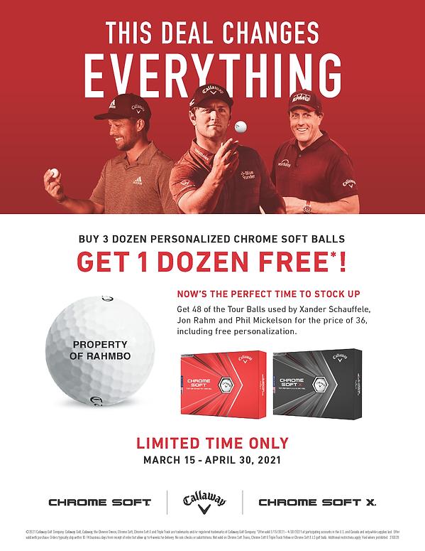 Callaway Spring Ball Promo - click to order