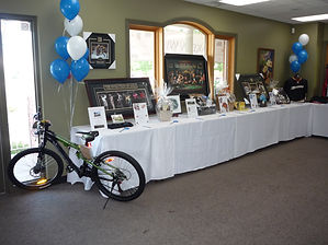 Tournament prize table at Kingsville Golf