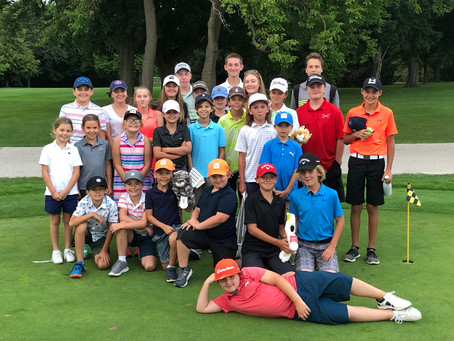 JR. LEAGUE GOLFERS ON THE FINAL NIGHT !!