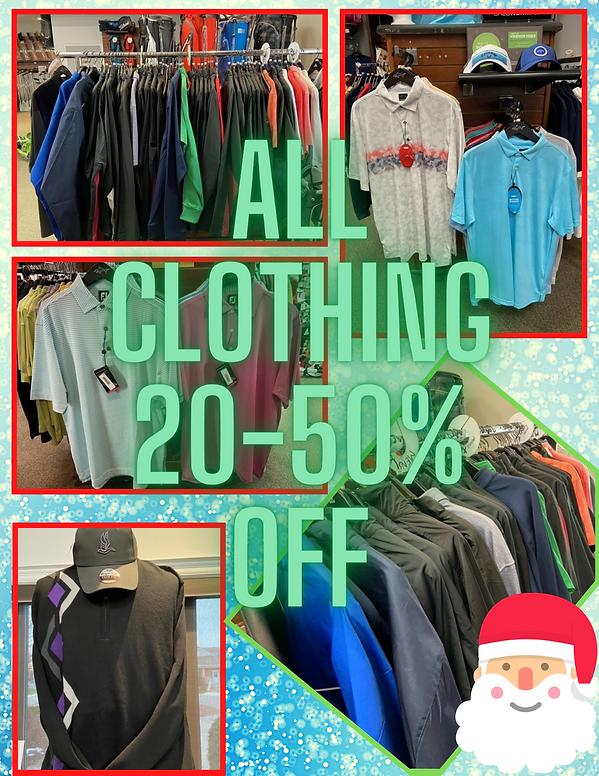 Clothing Sale at Kingsville Golf