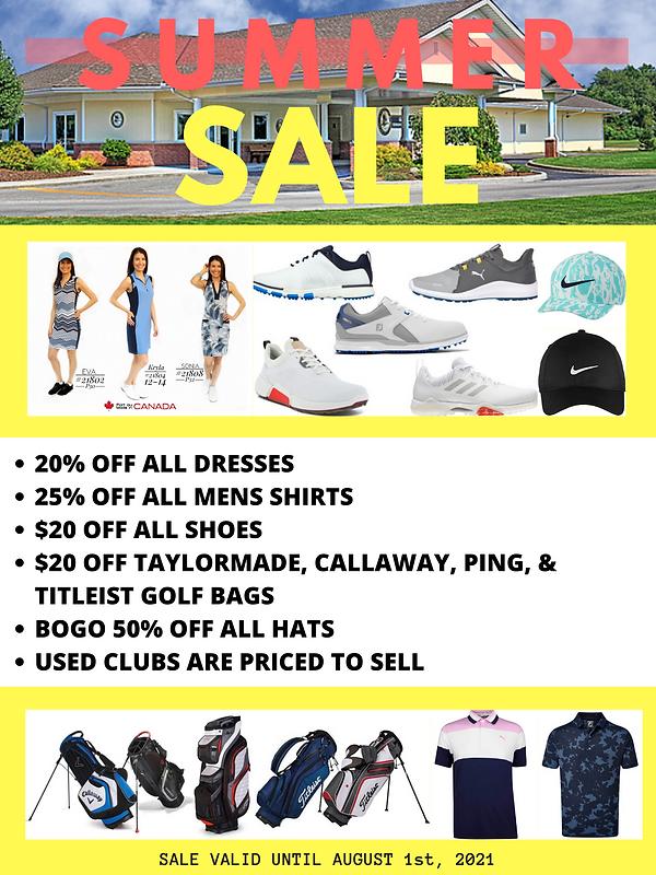 Summer Sale at Kingsville Golf!