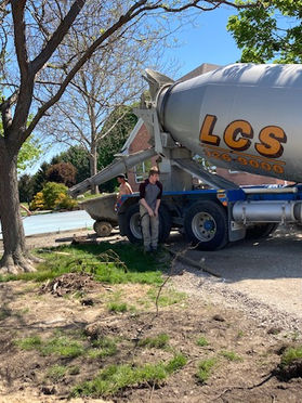 The Cement Truck Arrives