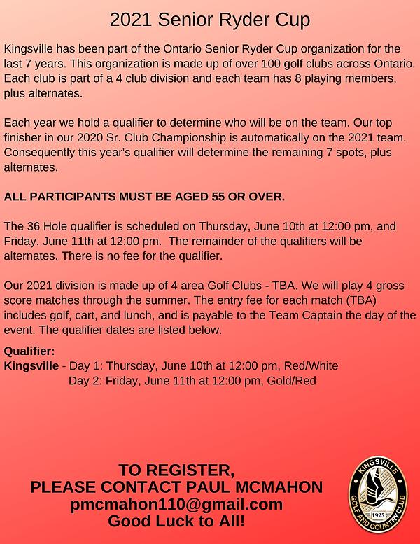 2021 Senior Ryde Cup Registration